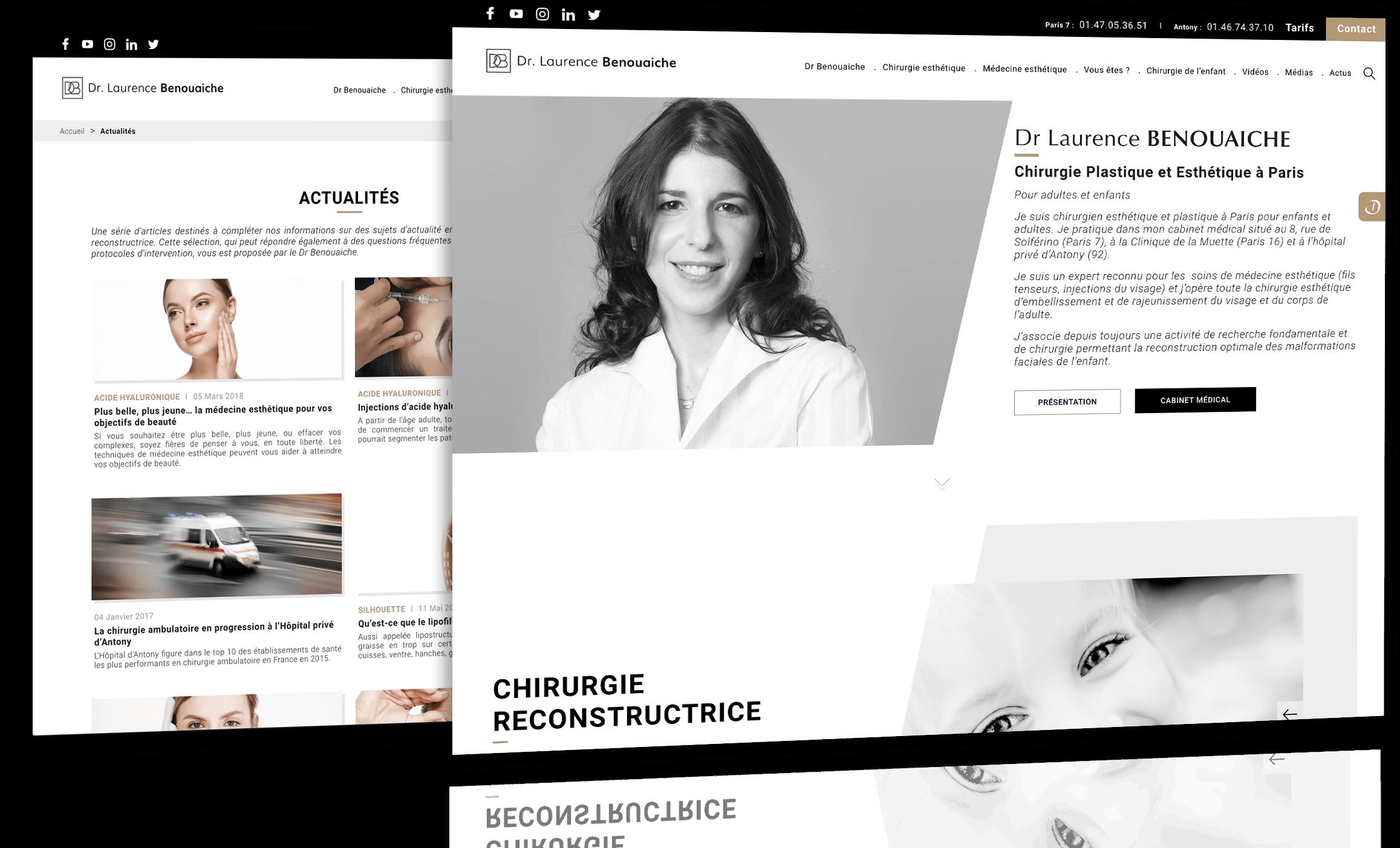 Site du Dr Benouaiche réalisé par Antipodes Medical, Agence Communication Santé