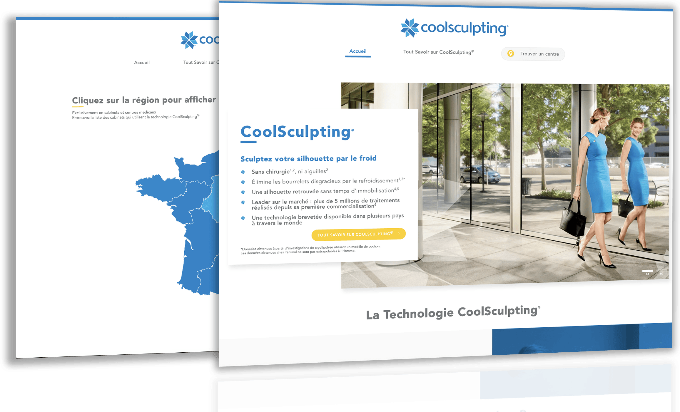 Site du centre esthetique Coolsculpting | Antipodes Medical, Agence Digitale Santé