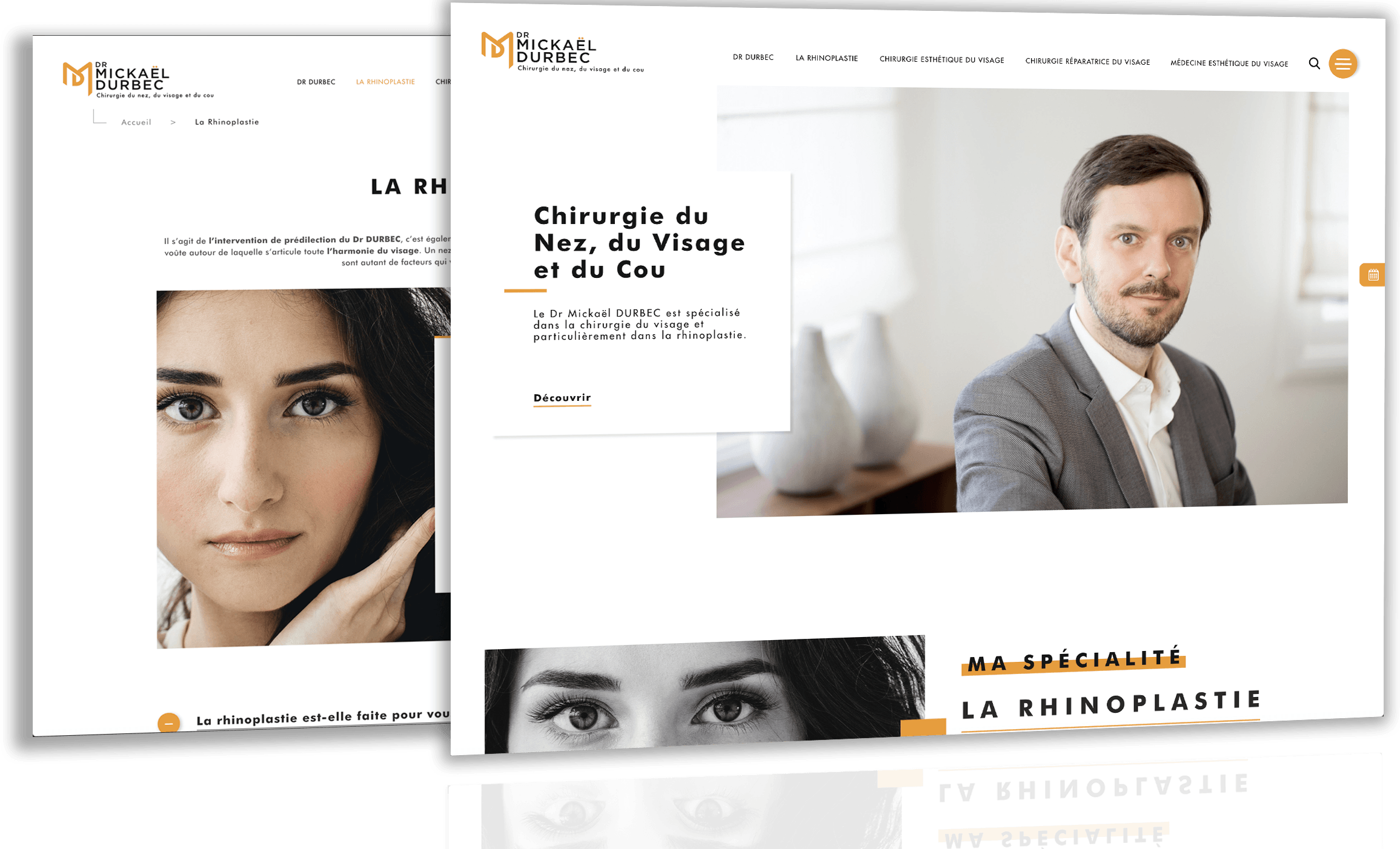 Site du Dr Durbec réalisé par Antipodes Medical, Agence Web Medical