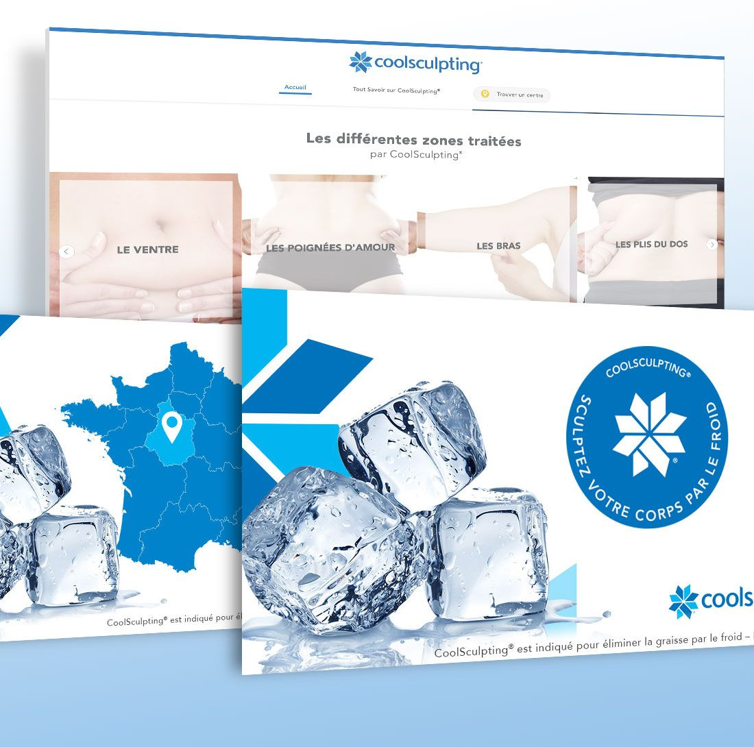 Coolsculpting: création de site internet & campagne adwords par Antipodes Medical
