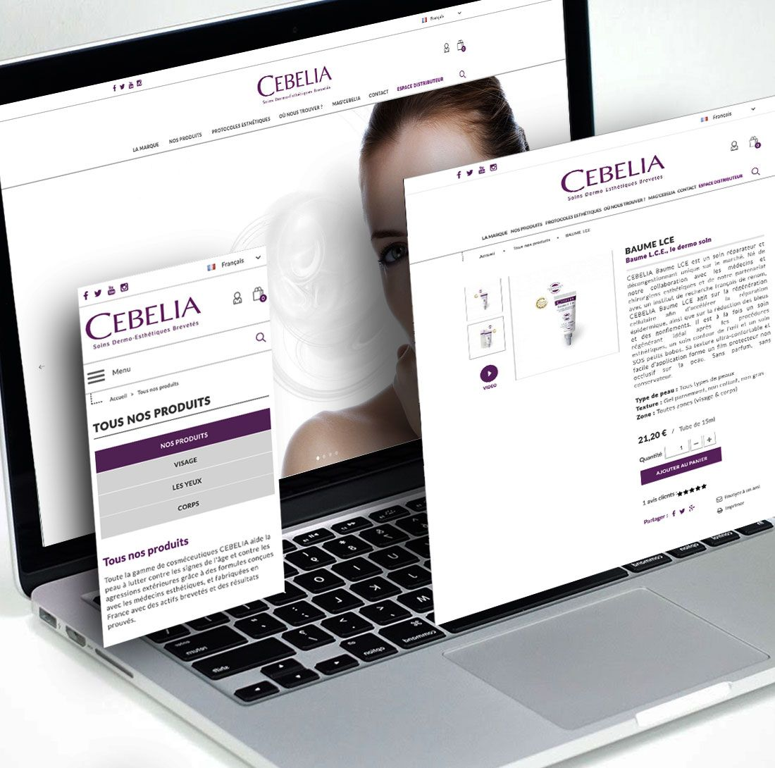 Site CEBELIA : creation de site E commerce par Antipodes Medical