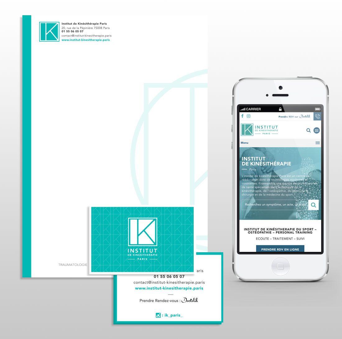 Institut de Kinésitherapie : Identité visuelle & refonte de site par Antipodes Medical